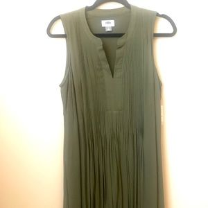 Olive Green Swing Dress